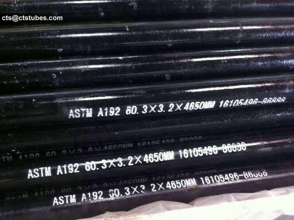 ASTM A192 carbon steel tubes 60.3*3.2*4650mm