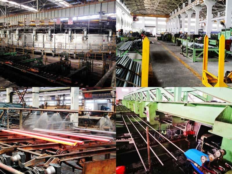 seamless carbon steel tubes producing and testing equipments