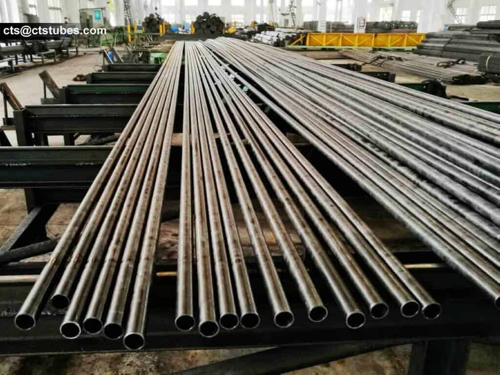 carbon steel tubes ready for inspection