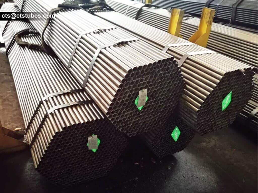 bundled carbon steel tubes ready for shipping