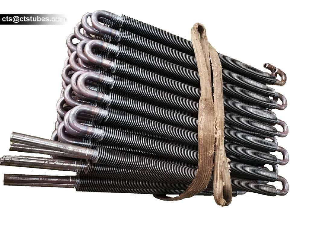 fin tubes used for heat exchangers or boilers bundled