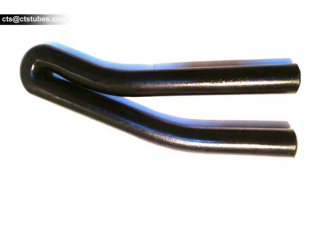 Black painted u-bent / u-bending tube sample