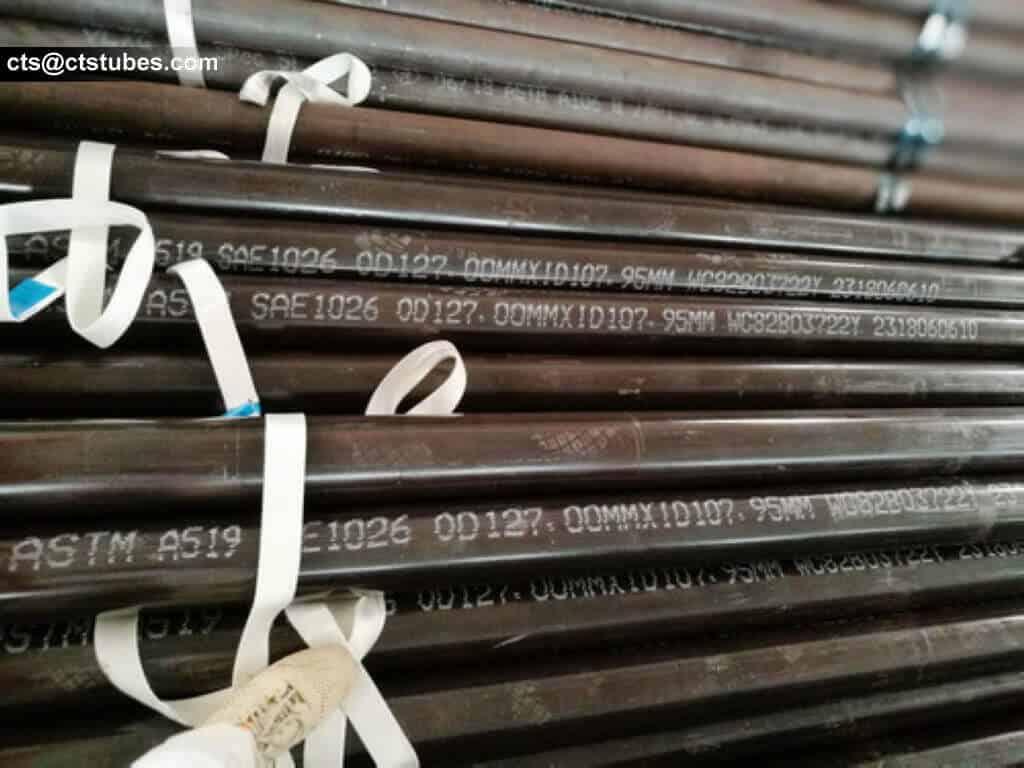 SAE1026 ASTM A519 steel tubes OD127 printing