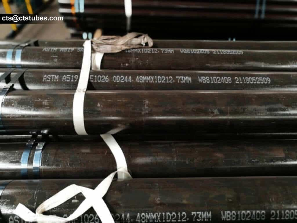 SAE1026 ASTM A519 steel tubes OD244.48 marking