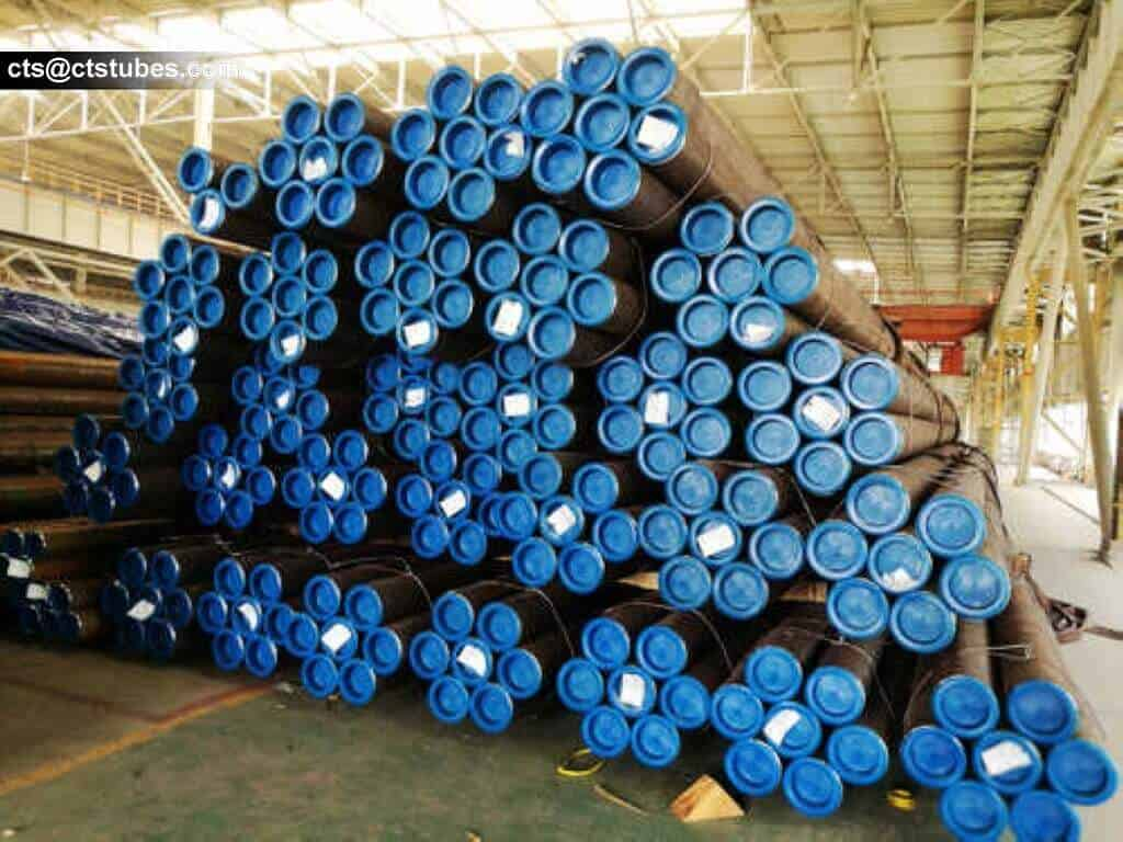SAE1026 ASTM A519 steel tubes in bundles ready to be shipped to U.S.A.