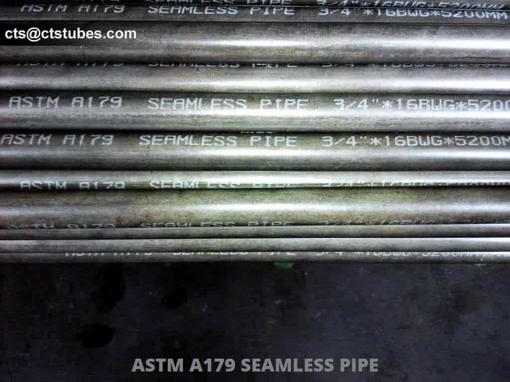 ASTM A179 ASME SA179 Seamless Pipe 16BWG