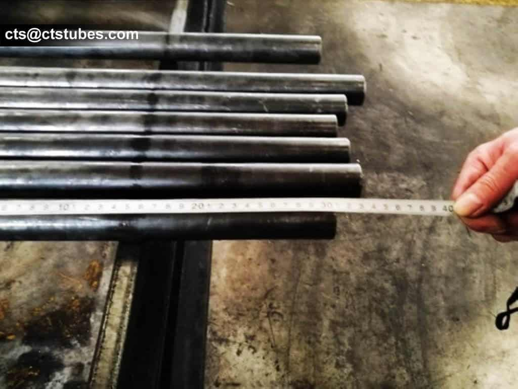 ASTM A179 ASME SA179 Seamless Tubes length measuring