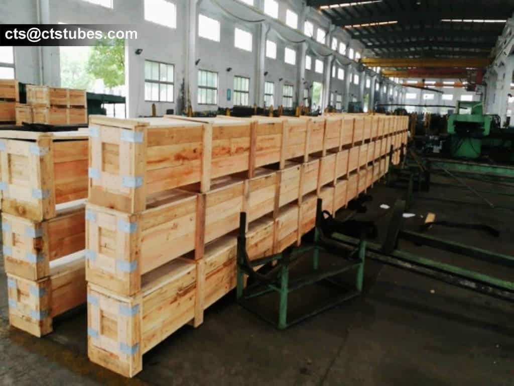 ASTM A179 Seamless Pipe in wooden cases