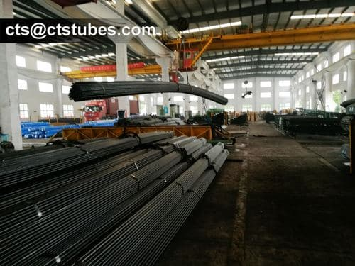 a bundle of ASTM A179 Heat Exchanger Tubes lifted up