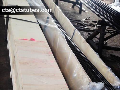 ASTM A179 Heat Exchanger Tubes loaded in wooden cases