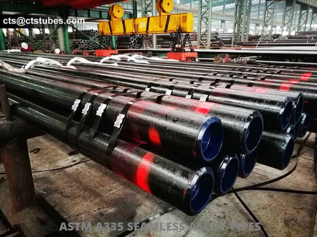 ASTM A335 ASME SA335 Black Seamless Alloy Pipes in bundles