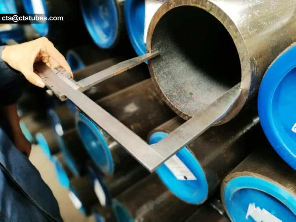 SAE1026 ASTM A519 steel tubes inside diameter checked