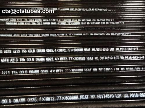ASTM A213 T5b cold drawn seamless alloy tubes