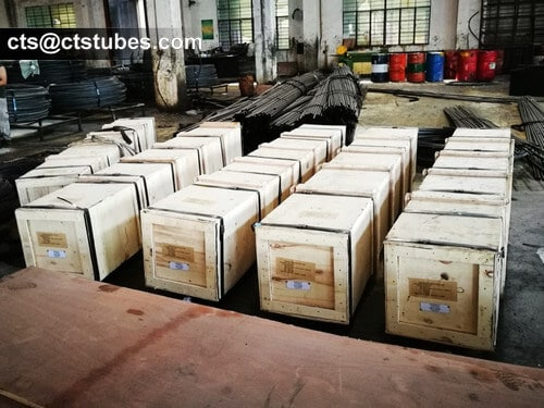 ASTM A249 TP304 wooden case packages