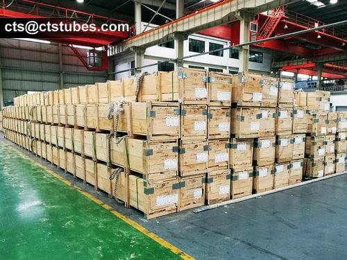 ASTM A312 Stainless Steel Pipes Wooden Case Packages
