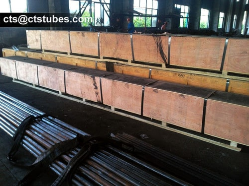 ASTM A335 P1 Seamless Alloy Tubes Wooden Box Package