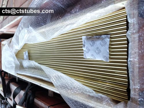 ASTM B111 Brass Tubes Wooden Box Package
