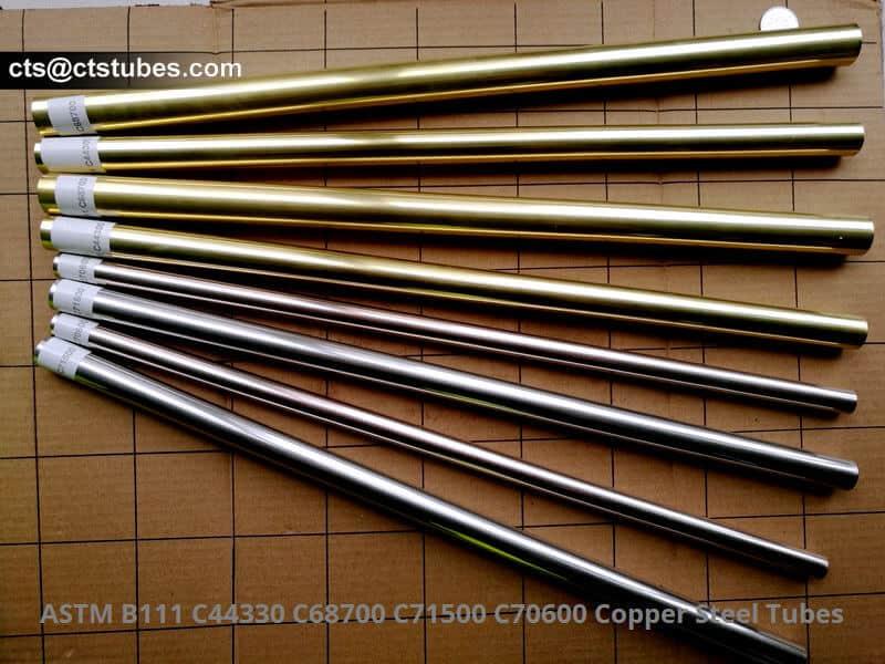 ASTM B111 C44330 C68700 C71500 C70600 Cooper Steel Tubes