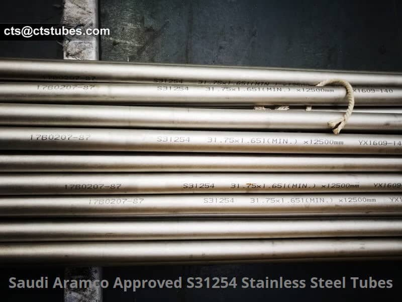 Saudi Aramco approved S31254 Stainless steel tubes
