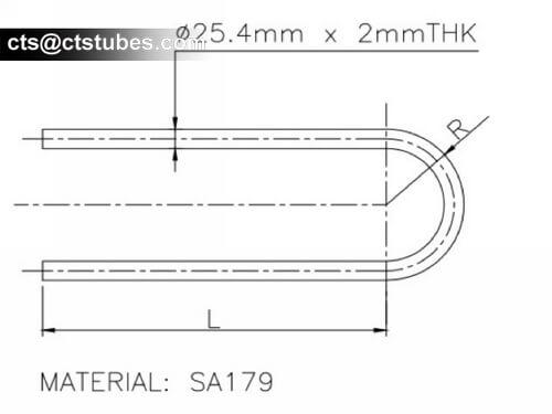 ASTM A179 U Bending Tube Drawing