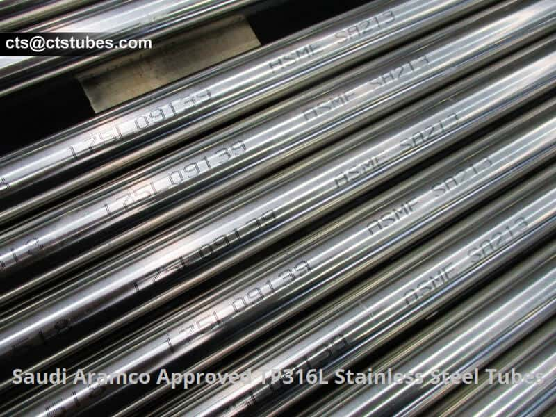 Saudi Aramco Approved TP316L Stainless Steel Tubes with ASME SA213 Marking