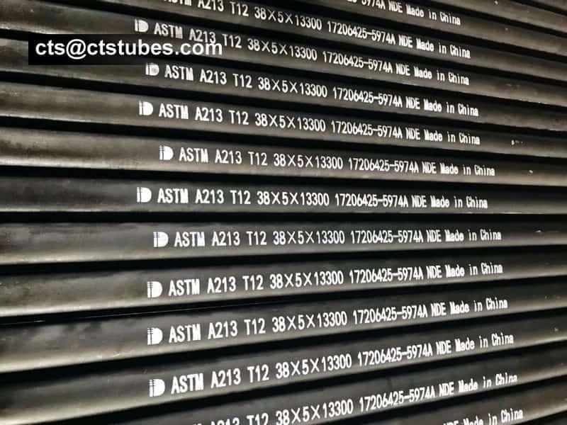 ASME SA213 T12 Seamless alloy tubes