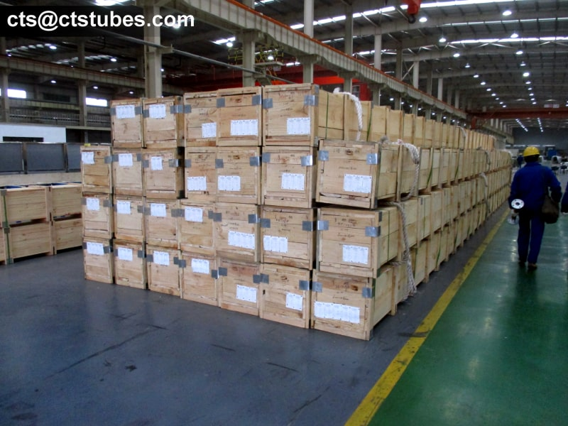 TP321 Stainless Tubes Wooden Case Package