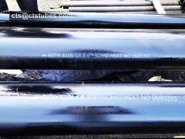 ASTM A106 GR.B marking