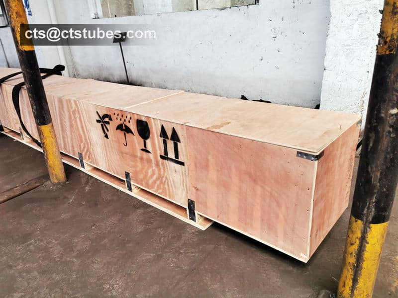 ASTM A192 Tubes Shipment Wooden Box Package