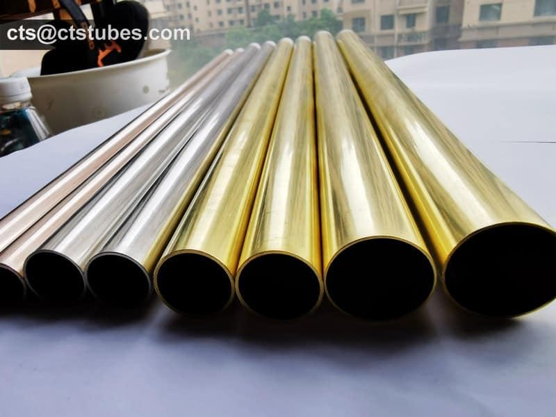 Aluminum Brass Tubes C68700 CuZn20Al2 CZ111 Surface