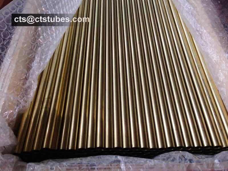 Aluminum Brass Tubes C68700 CuZn20Al2 CZ111 Wooden Package