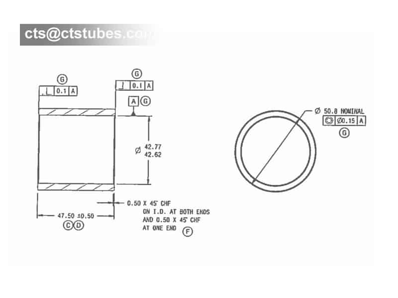 Bushing Sleeve Tubes ASTM A519 GR.1020 Drawing