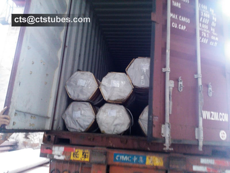 ASTM A179 Seamless Tubes Loading Container