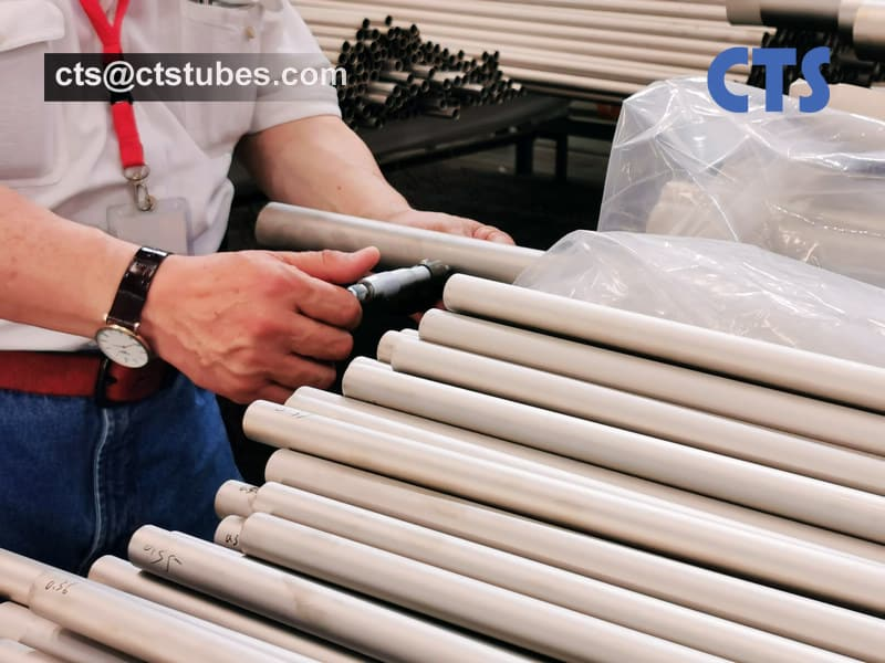 ASTM B 861 ASME SB861 GR.2 Titanium Tubes OD. Inspection