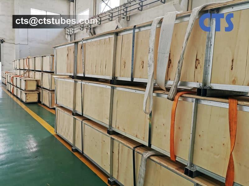 ASTM B861 ASME SB861 GR.2 Titanium Tubes Packaging by Wooden Box