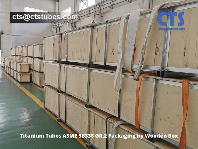 Titanium Tubes ASME SB338 GR.2 Packaging by Wooden Box