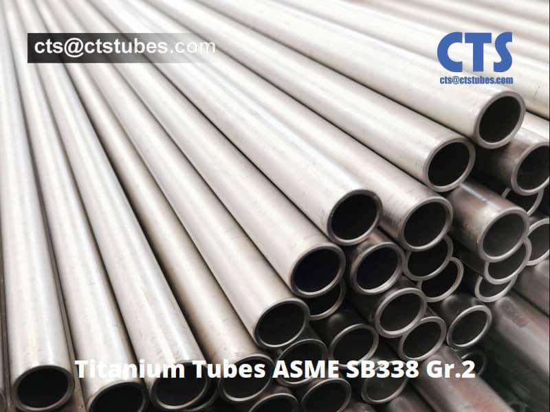Titanium Tubes ASME SB338 Gr.2