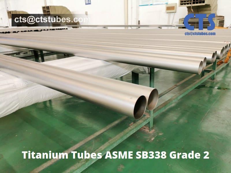 Titanium Tubes ASME SB338 Grade 2
