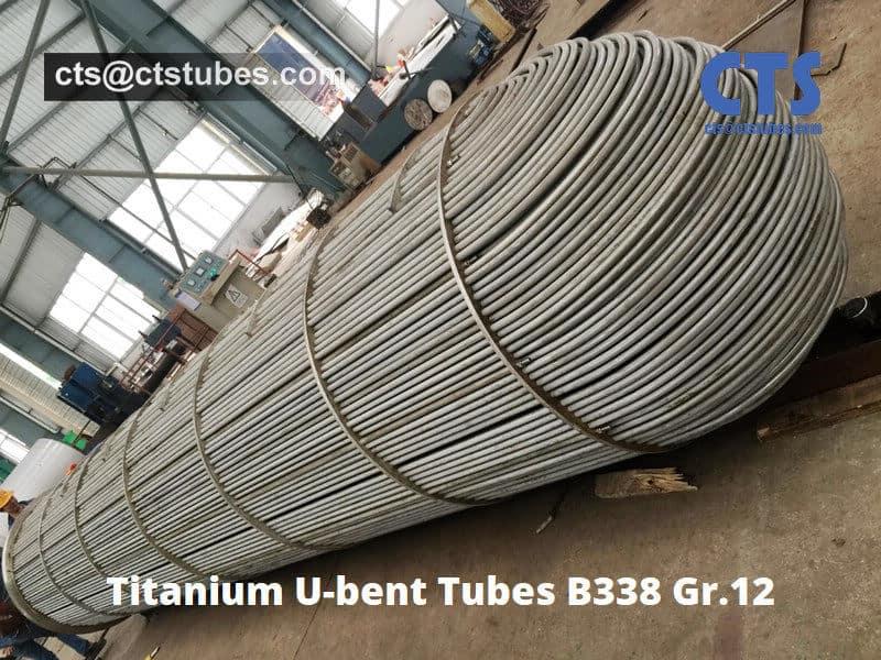 Titanium U bend tubes GR12