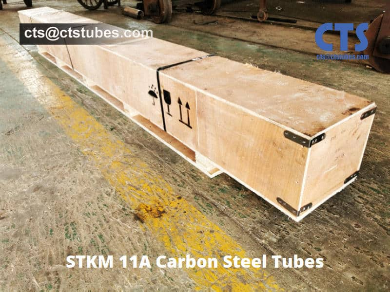 STKM 11A Carbon Steel Tubes Wooden Box Package