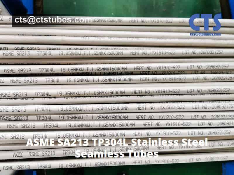 ASME SA213 TP304L Stainless Steel Tubes Marking