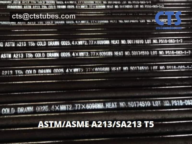 ASTM A213 ASME SA213 T5b Seamless Alloy Tubes