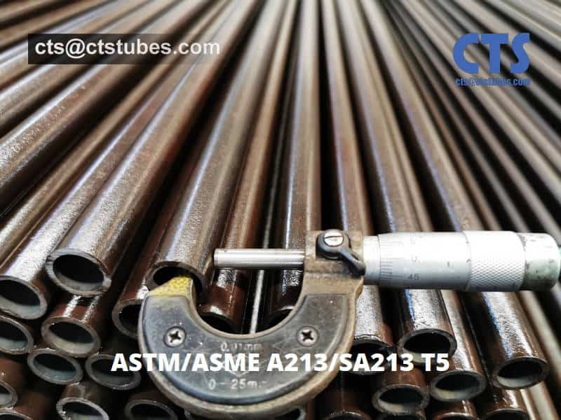 SA213 T5 Seamless Alloy Tubes Thickness Inspection